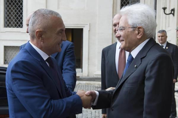 Mattarella riceve presidente Albania Ilir Meta